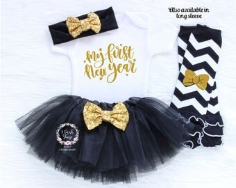 My first New Year, First New Years Bodysuit, 2018 New Year Shirt, Baby First New Year Outfit Girl, 1st New Year Outfit Girl, New Year HNY6