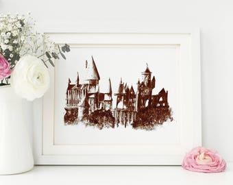Harry Potter Decor, Hogwarts, Harry Potter Print, Harry Potter Gift, Harry Potter Wall Decal, Harry Potter Art, Harry Potter Poster, Snape