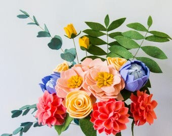 Felt Flower Bouquet (Tropical/Weddings)