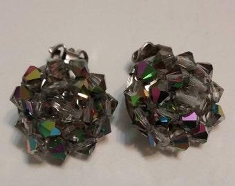 Aurora Crystal Clip On Earrings