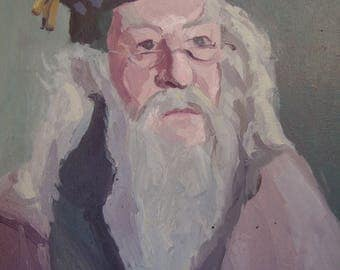 Harry Potter Dumbledore Oil Painting
