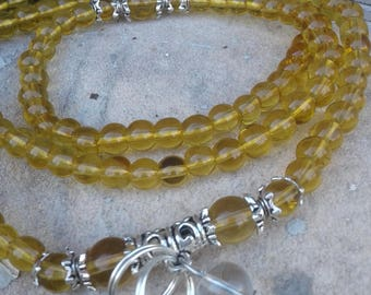 Golden Crystal Mala Bead Necklace/Bracelet