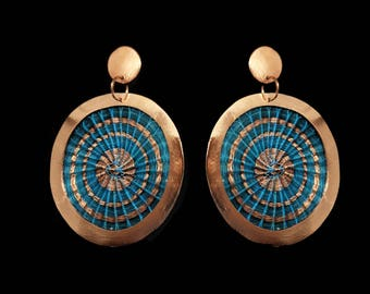 Copper Circle earrings, Chile's Fine Craft