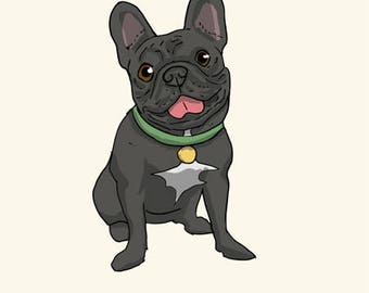 French Bulldog Greetings card: Happy Birthday
