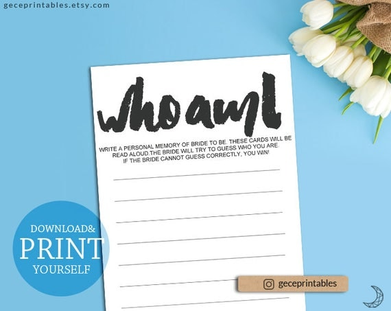 Bridal memory game who am i game instant download printable il570xn solutioingenieria Images