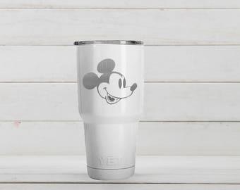 Yeti Tumblers Engraved With Mickey Mouse Personalized Yeti Tumblers 20 oz Mickey Mouse Yeti Gift For Men Mickey Mouse Yeti Rambler 30 oz