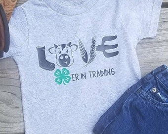 4H Cow Love  Toddler Tee