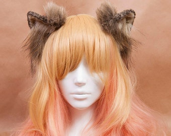 Timber Wolf Fur Ears Headband