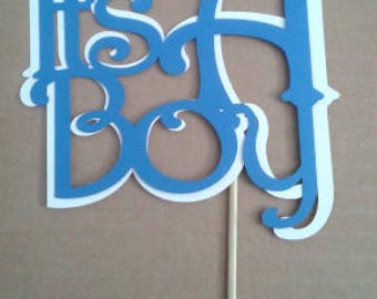 """Nautical Themed """"It's A Boy!"""" Centerpiece Cardstock on a Stick"""