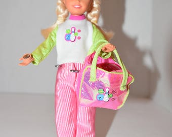 """Barbie's Little Sister """"Stacy"""" goes bowling"""