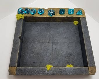 Dwarven Dice Tray / Dice Rolling Box / Dice box / DnD Dice Tray / DnD Homebrew / Tabletop RPG / Dice Container / Pathfinder Stone Dice Tray