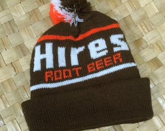 Vintage Hires Root Beer Knit Cap