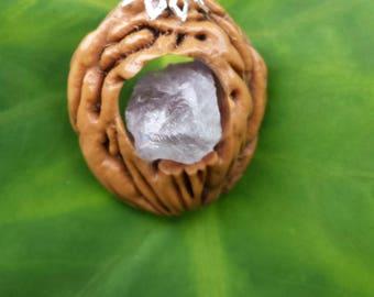 Amethyst in the Raw Peach Pit