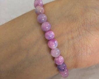 Persia Jade Perlenarmband Purple