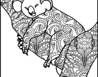Animal Coloring Page Monkey Printable