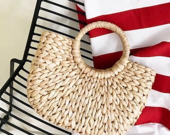 Women's Woven Straw Beach Bag - The Boho Market Bag Makes A Supreme Summer Bag Or Everyday