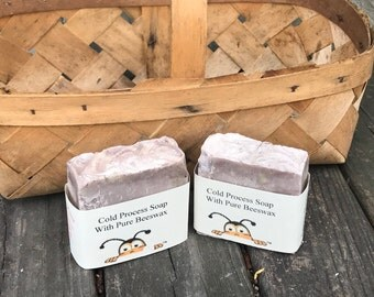 Lilac Cold Process Soap with Pure Beeswax