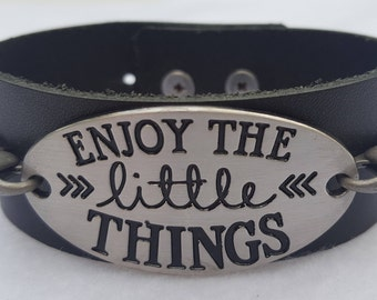 Enjoy The Little Things Cuff Bracelet