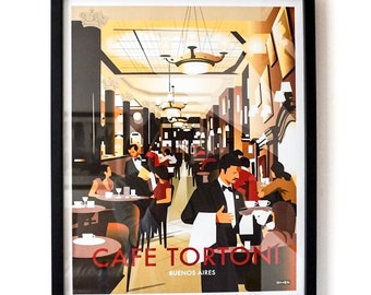 Buenos Aires poster – Cafe Tortoni