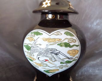 Vintage Franklin Mint Treasures of the Imperial Dynasties Miniature Vase with Lid