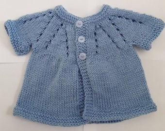 Knitted Baby Cardigan, Baby Clothes, Baby Gift, Hand Knitted