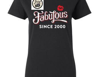 2000 birthday, 2000 shirt, 2000 T-Shirt, 2000, 2000 birthday shirt, 17yrs old, Any Year Available