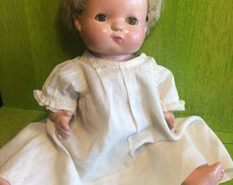 Vintage Effanbee Patsy Baby Composition Doll from 1930s, Sleepy Eyes