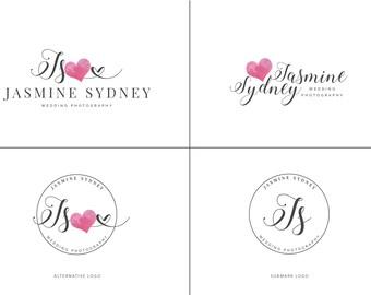 SALE Photography Logo Branding Kit, Logo and Watermarks Branding Package, Photography Branding, Watercolor Logo, Signature Logo Leaf