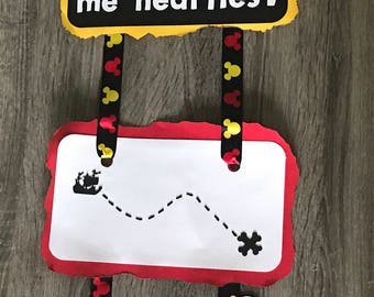 Pirate Mickey Party Door Sign