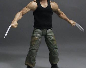 NOX-TK-B: FIGLot Black Tank Top for 7 inch NECA Rambo, or Marvel Wolverine Figure