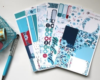 Winter Floral - Classic Happy Planner Weekly Kit