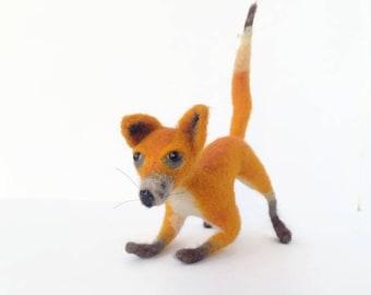 Fox Handmade Fox doll Handmade felt doll Needle felt animal Fox miniatures Fox toy Wool Soft toy fox Red fox art Gift for any occasion