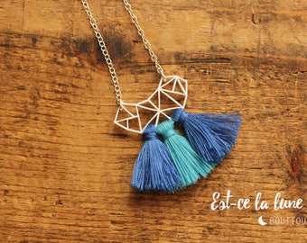 "SILVER 925 - collar / Necklace ""Geometric & tassels"""
