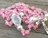 Rose Pink & Pearl glass b...