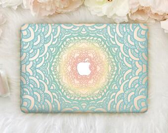 Mandala Laptop Case Macbook Pro 13 2016 Pro 15 2016 Macbook Air 11 inch Case Macbook Case Hard Cover for Macbook Air 13 Wood Pro 15 YZM018