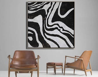 Abstract painting Large Wall Art, Minimalist Canvas Painting, hand painted acrylic painting on canvas - Ethan Hill Art No.H149S