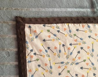 Brown Minky Baby Blanket