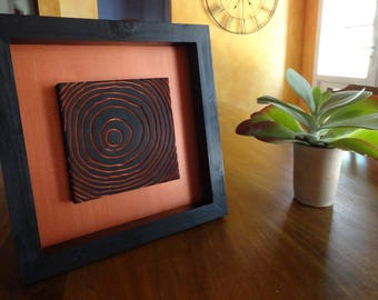 Picture engraving line of life copper