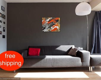 "Acrylbild, Malerei, Gemälde, Abstrakt, ""Lava"", acrylic painting, Acryl auf Leinwand, Original, Zeitgenössische Kunst, Modern, Handgefertigt"