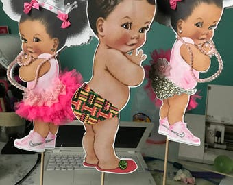 Princess centerpiece, African centerpiece, baby girl centerpiece,baby centerpiece, baby girl centerpiece,baby boy centerpiece, baby shower c