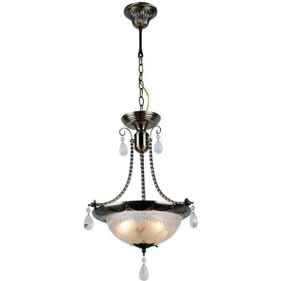 pendant lights vintage look bronze lamp chandelier. Black Bedroom Furniture Sets. Home Design Ideas