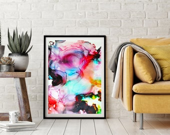 Downloadable Prints, fluid art, printable art, abstract painting, wall art, Home Decor, home art
