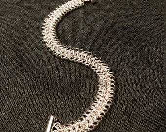 Sterling Silver European 4in1 Chain Maille Bracelet