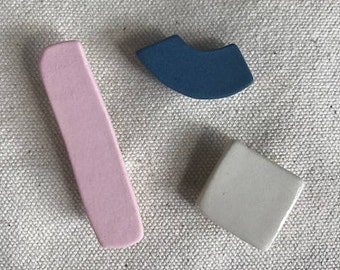 Multi Color Pin Group: Pink, White, Blue