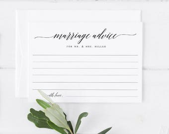 Marriage advice for the bride and groom Template Wedding Advice Advice for the Bride Card Marriage Advice Card Rustic Wedding Advice  #WP30
