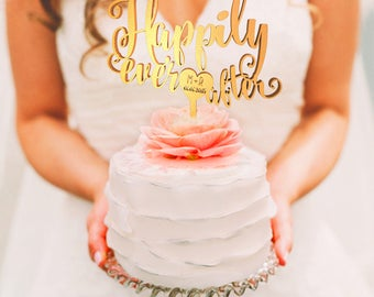 Personalized Wedding Cake Topper, Wedding Cake Topper, Wedding Decoration, Personalized Cake, Cake Toppers, Happily Ever After Topper