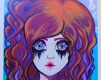 "Original Acrylic on Canvas Painting - ""Acid Bath"""
