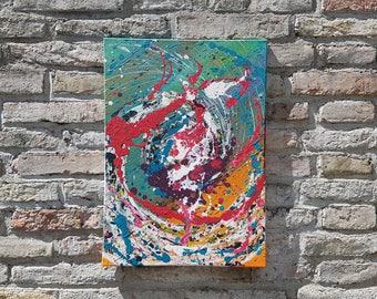 Time - acryl art, modern & abstract, unique