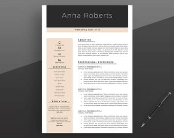 Resume Template, Professional Resume Template, Instant Download, Modern CV Template, Creative CV Template, Easily editable.