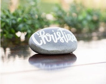 River Stone Place Cards | Stone Escort Cards | River Rocks Seating Cards | Wishing Rocks